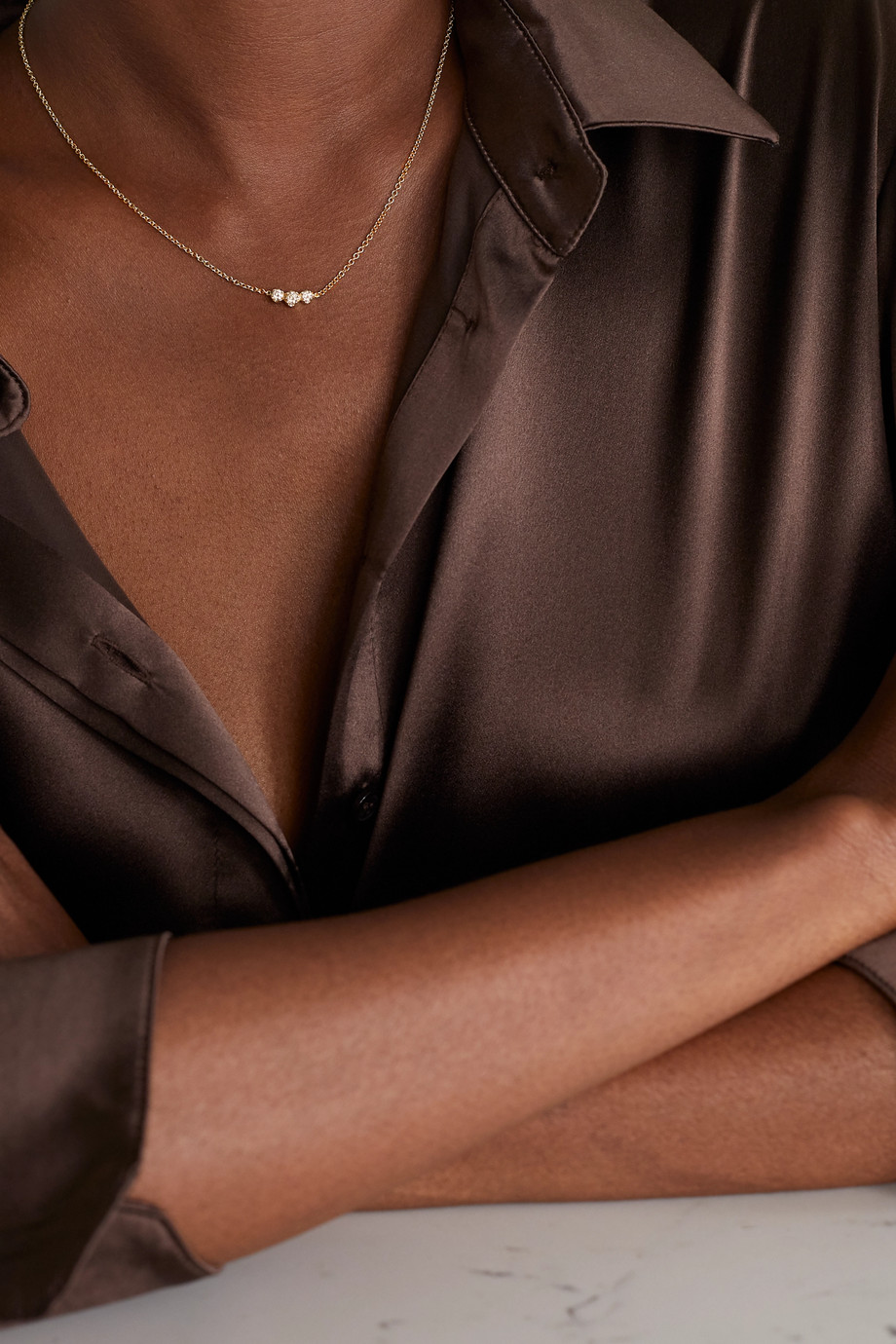 Jennifer Meyer Illusion 18-karat gold diamond necklace