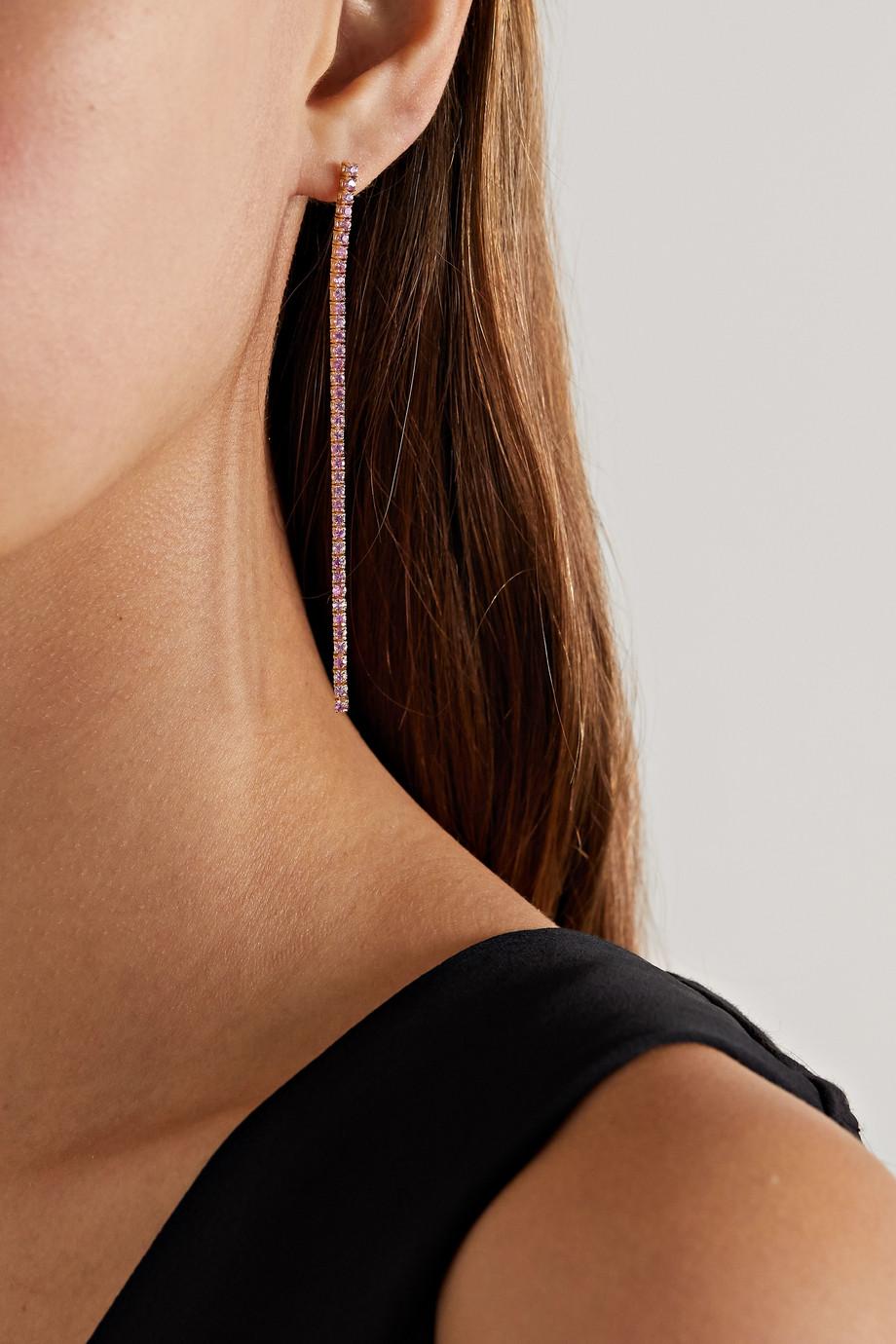 Jennifer Meyer Tennis 18-karat gold sapphire earrings