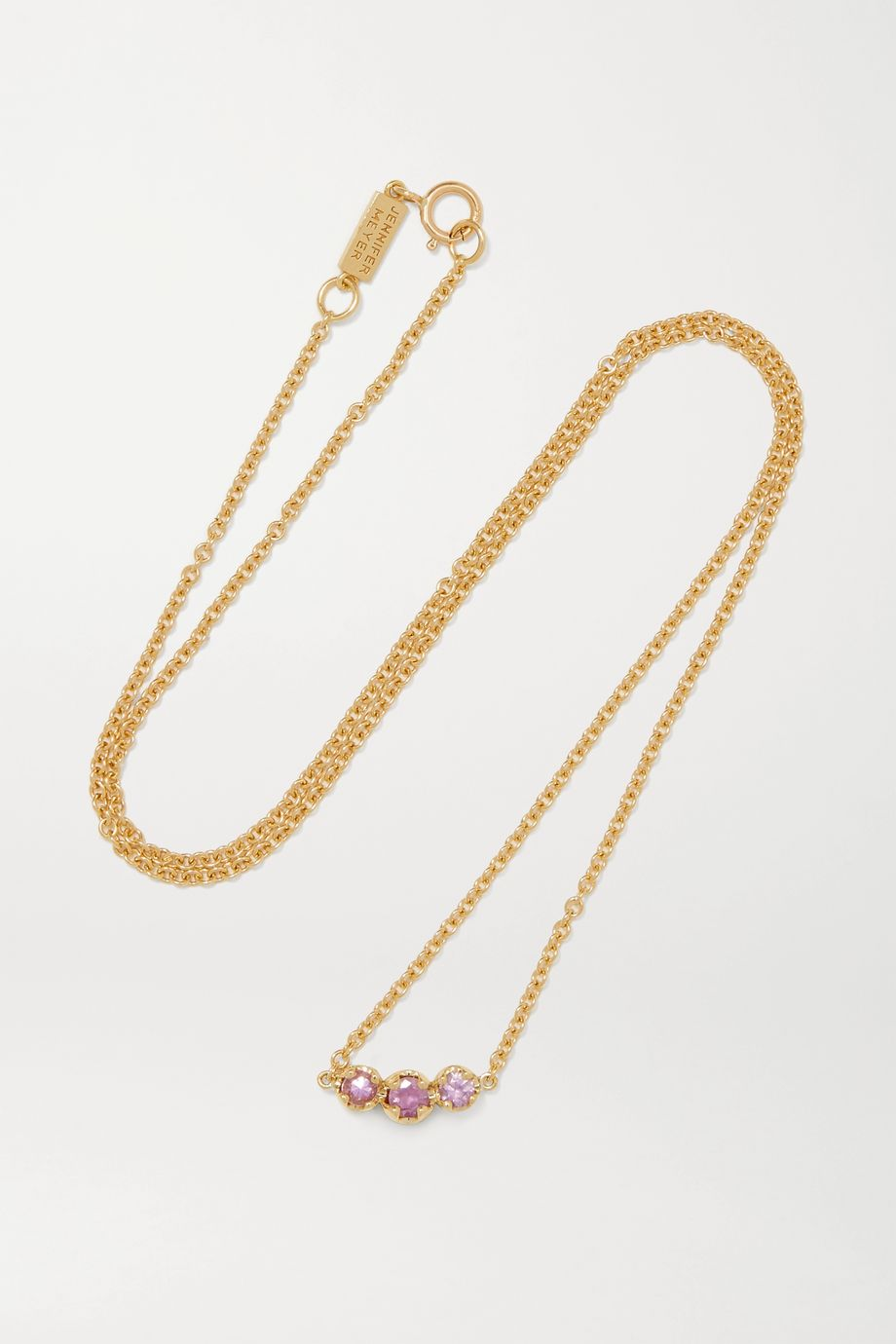 Jennifer Meyer Collier en or 18 carats et saphirs