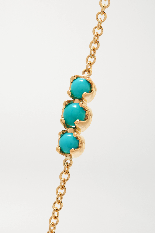 Jennifer Meyer Armband aus 18 Karat Gold mit Türkisen