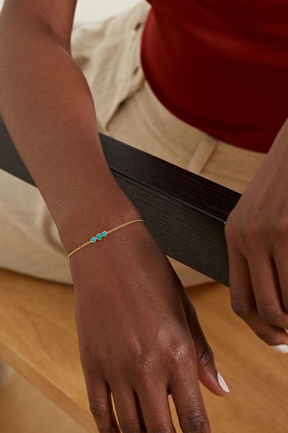 Jennifer Meyer 18-karat gold turquoise bracelet