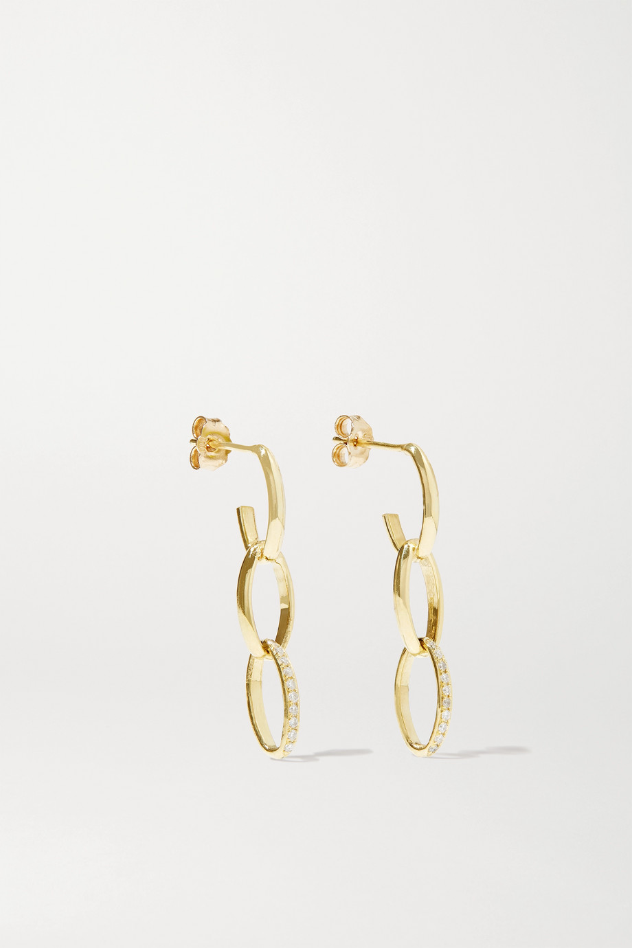 Jennifer Meyer Edith 18-karat gold diamond earrings