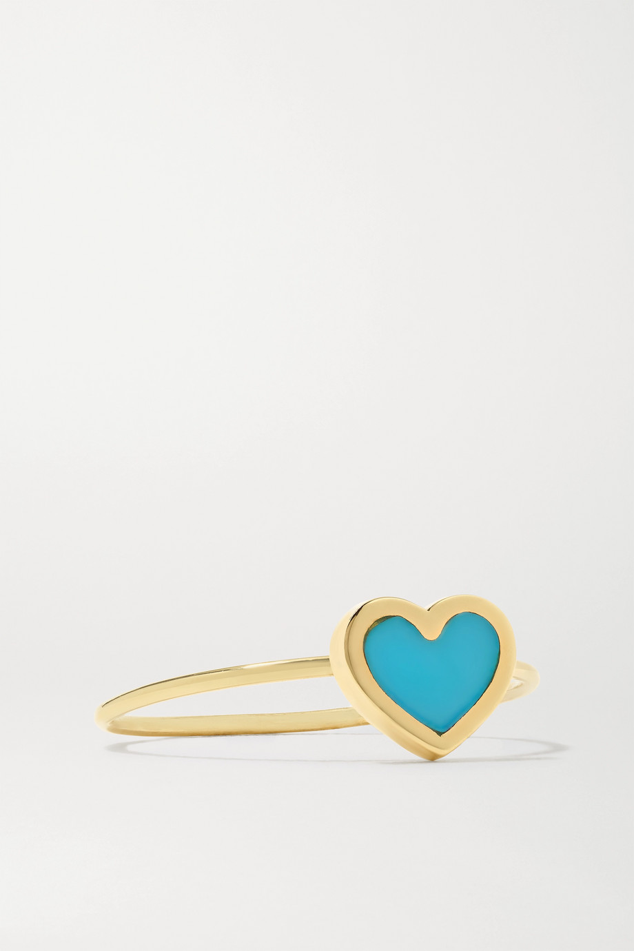 Jennifer Meyer Heart 18-karat gold turquoise ring