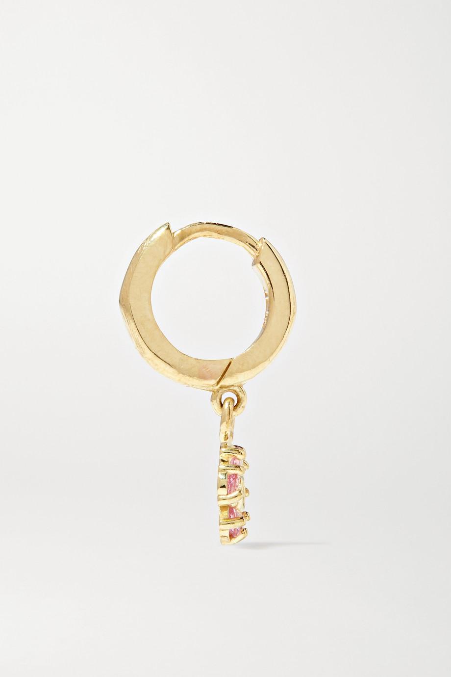 Jennifer Meyer Mini Flower Creolen aus 18 Karat Gold mit Saphiren und Diamanten