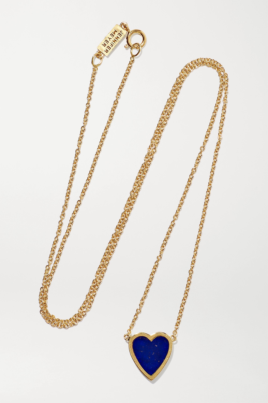 Jennifer Meyer Mini Heart 18-karat gold lapis lazuli necklace