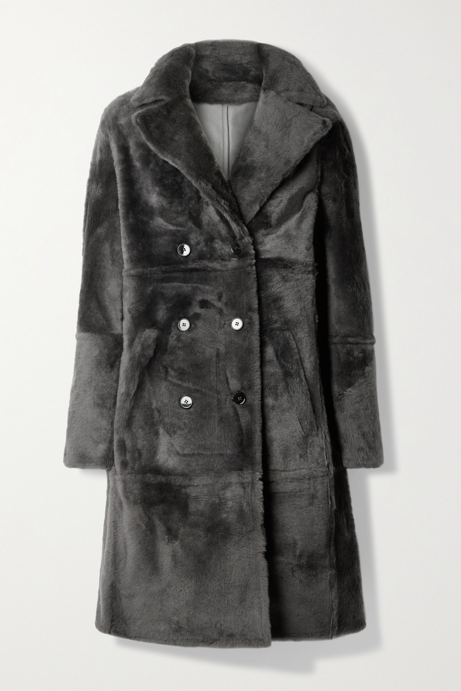Yves Salomon Lacon double-breasted shearling coat