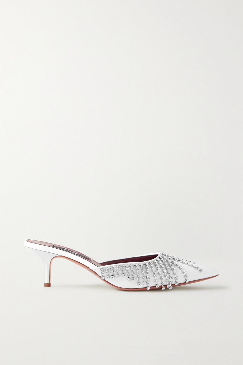 AREA 水晶缀饰漆皮穆勒鞋