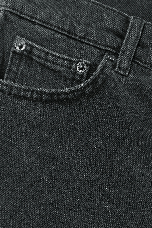Reformation Dixie frayed denim shorts