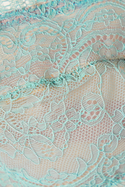 Dora Larsen Iris corded lace and satin strapless bra