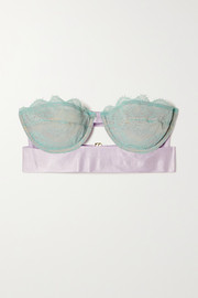 Dora Larsen Iris corded lace and satin strapless bra