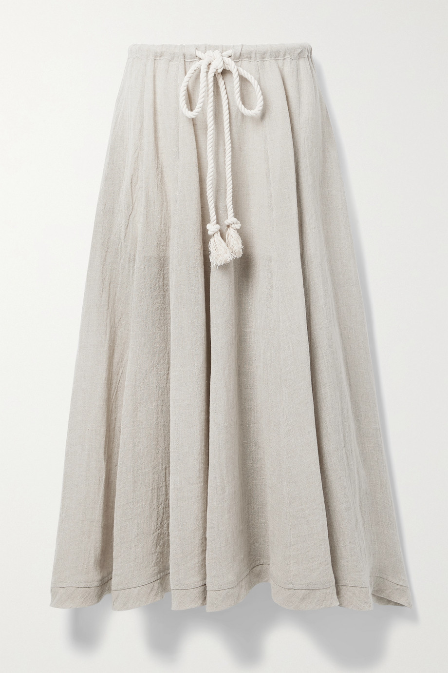 Lisa Marie Fernandez + NET SUSTAIN Yasmin organic linen-blend gauze midi skirt
