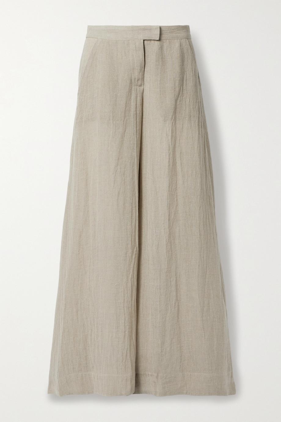Lisa Marie Fernandez 【NET SUSTAIN】有机亚麻混纺薄纱阔腿裤