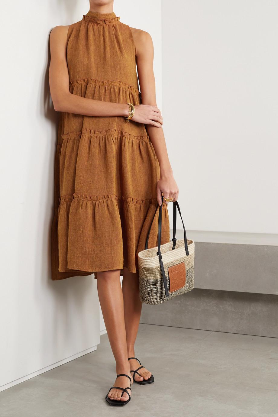 Lisa Marie Fernandez + NET SUSTAIN Erica ruffled tiered organic linen-blend gauze dress