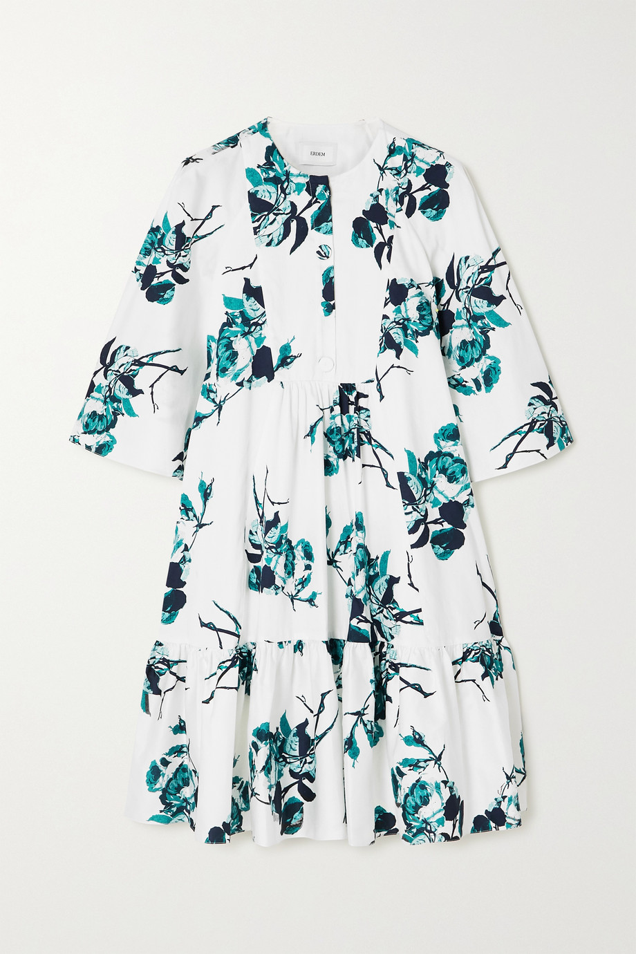 Erdem Floral-print cotton mini dress