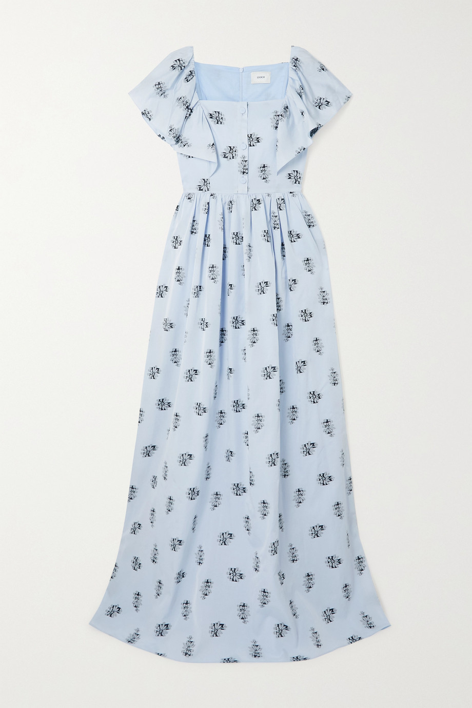 Erdem Ariella fil coupé voile maxi dress