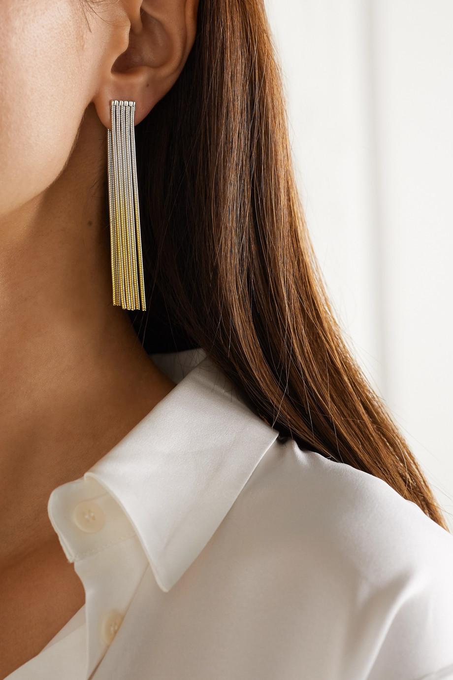 SARAH & SEBASTIAN Feeler gold vermeil and silver earrings