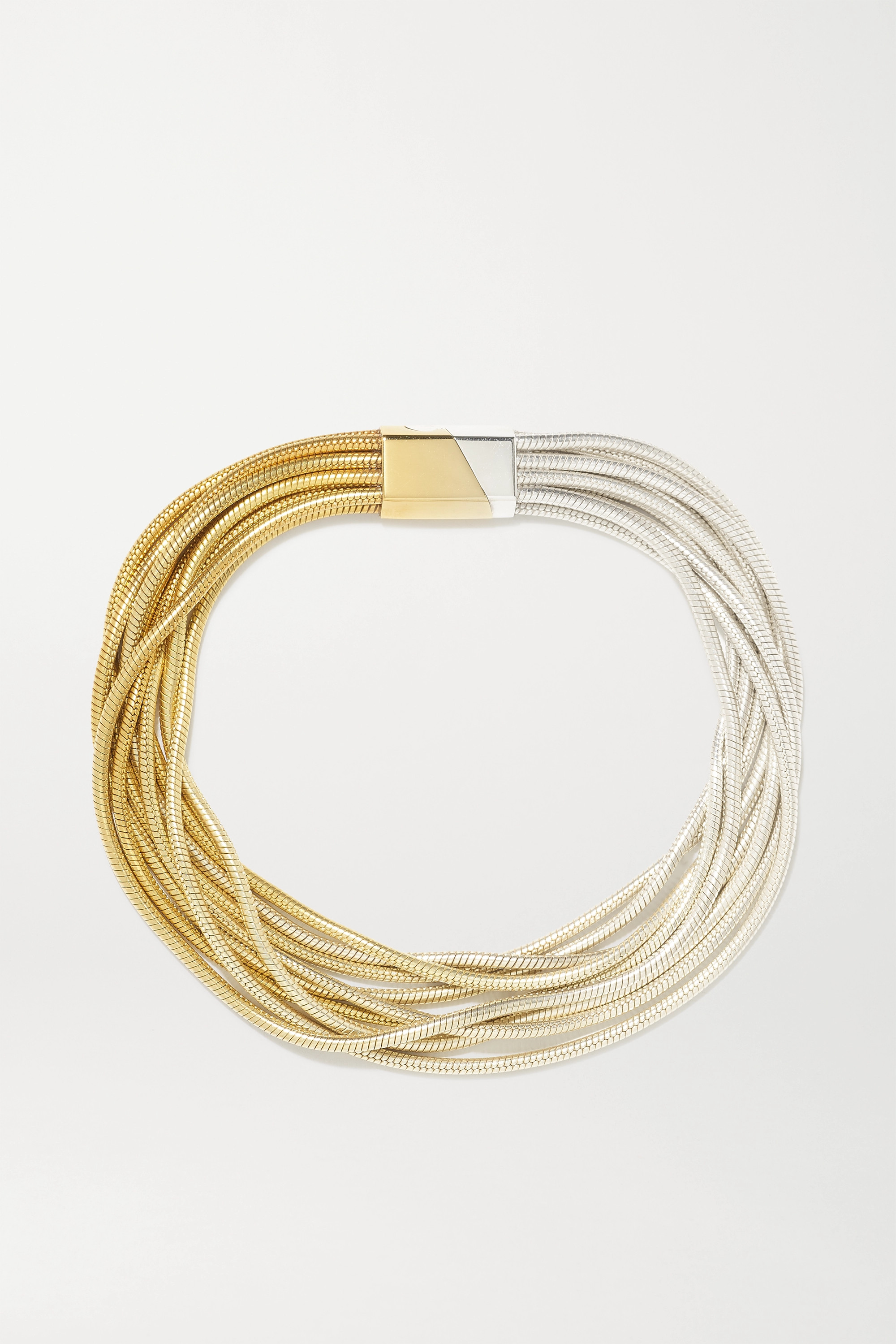 SARAH & SEBASTIAN Feeler gold vermeil and silver bracelet