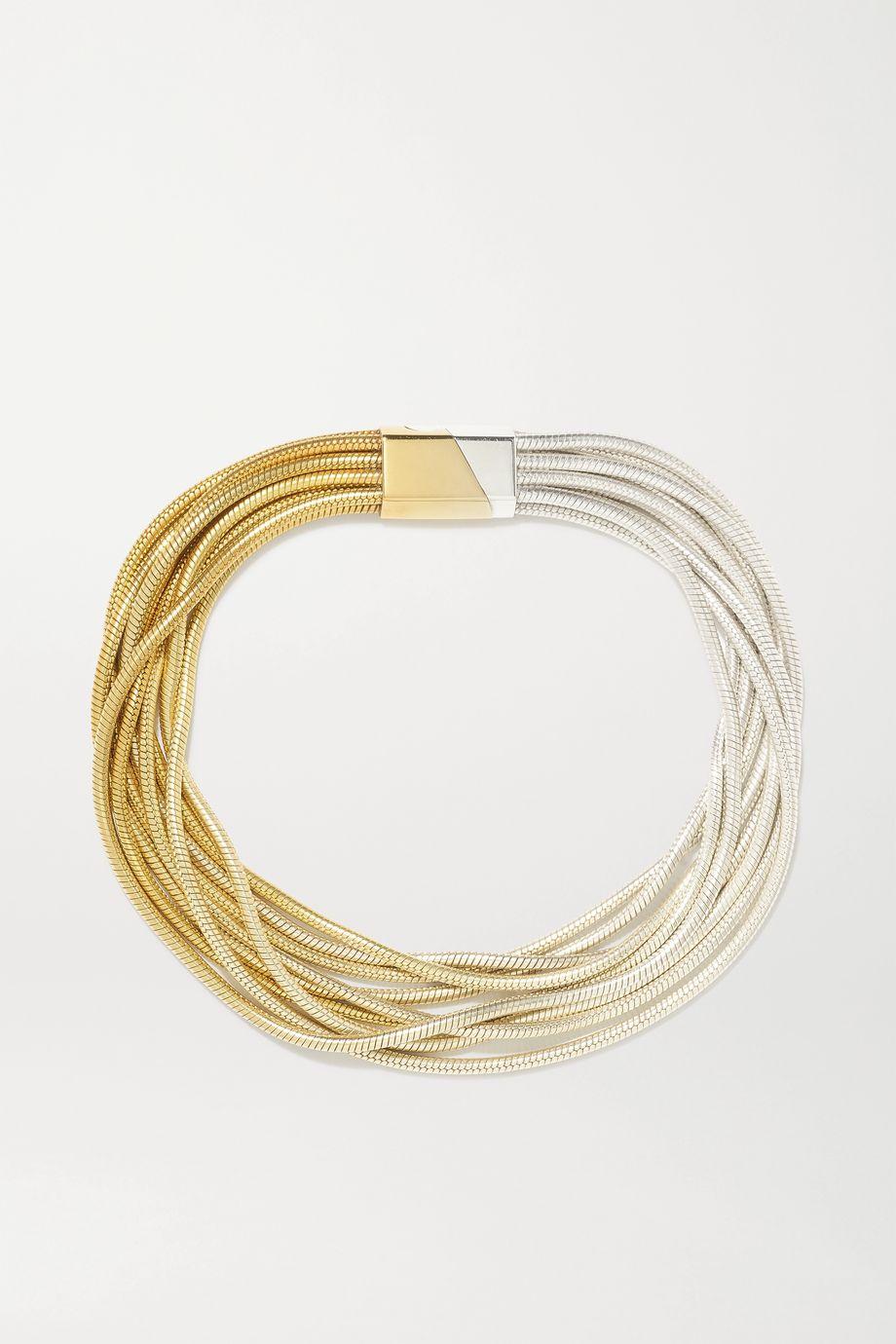 SARAH & SEBASTIAN Feeler gold vermeil and silver bracelet