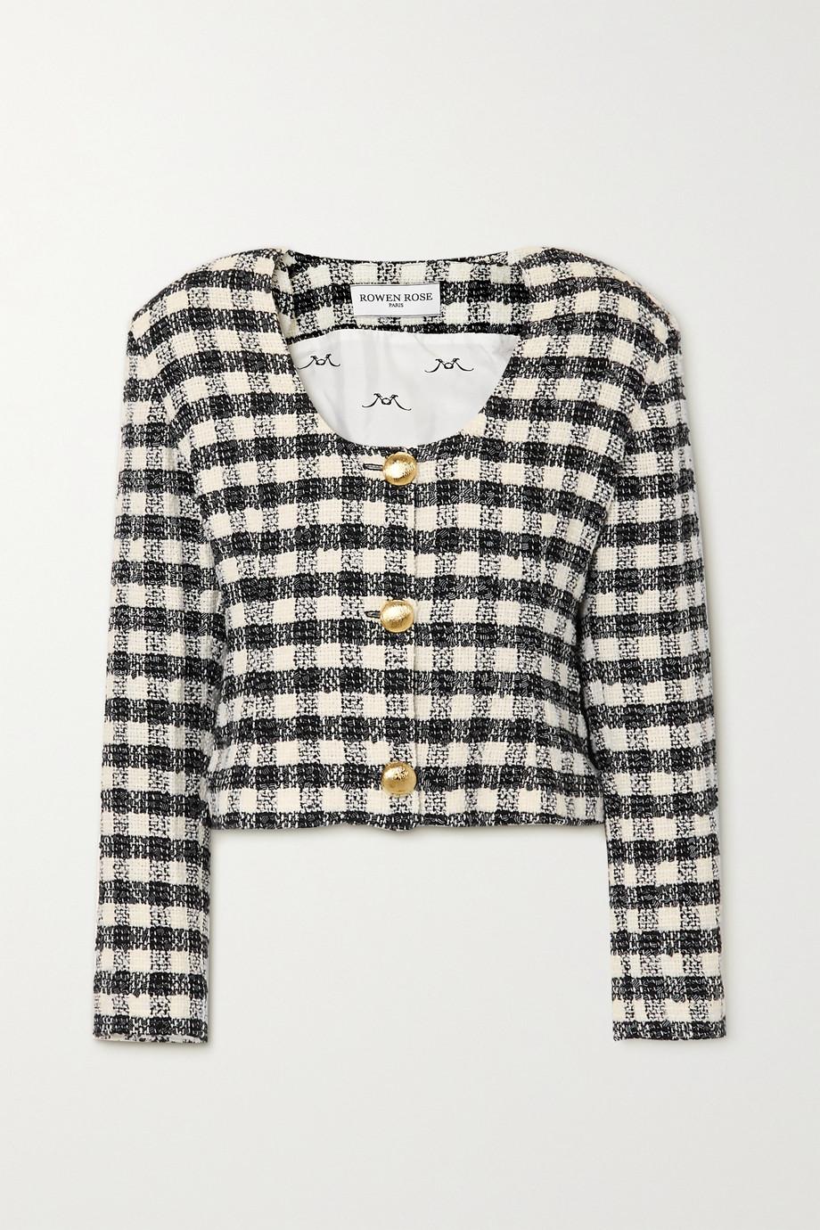 Rowen Rose Checked tweed jacket