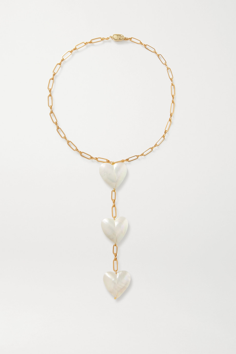 Timeless Pearly Gold-plated mother-of-pearl necklace