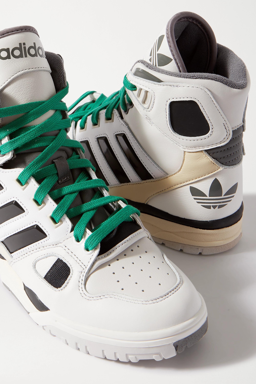 adidas Originals + Kid Cudi Torsion Artillery leather high-top sneakers