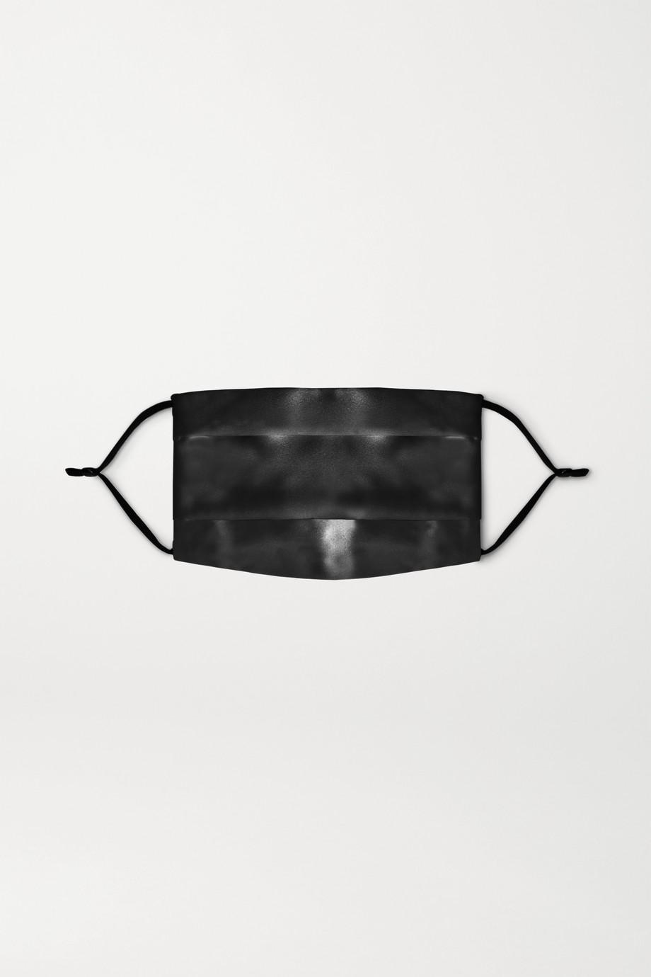 Slip Masque de protection en soie réutilisable, noir