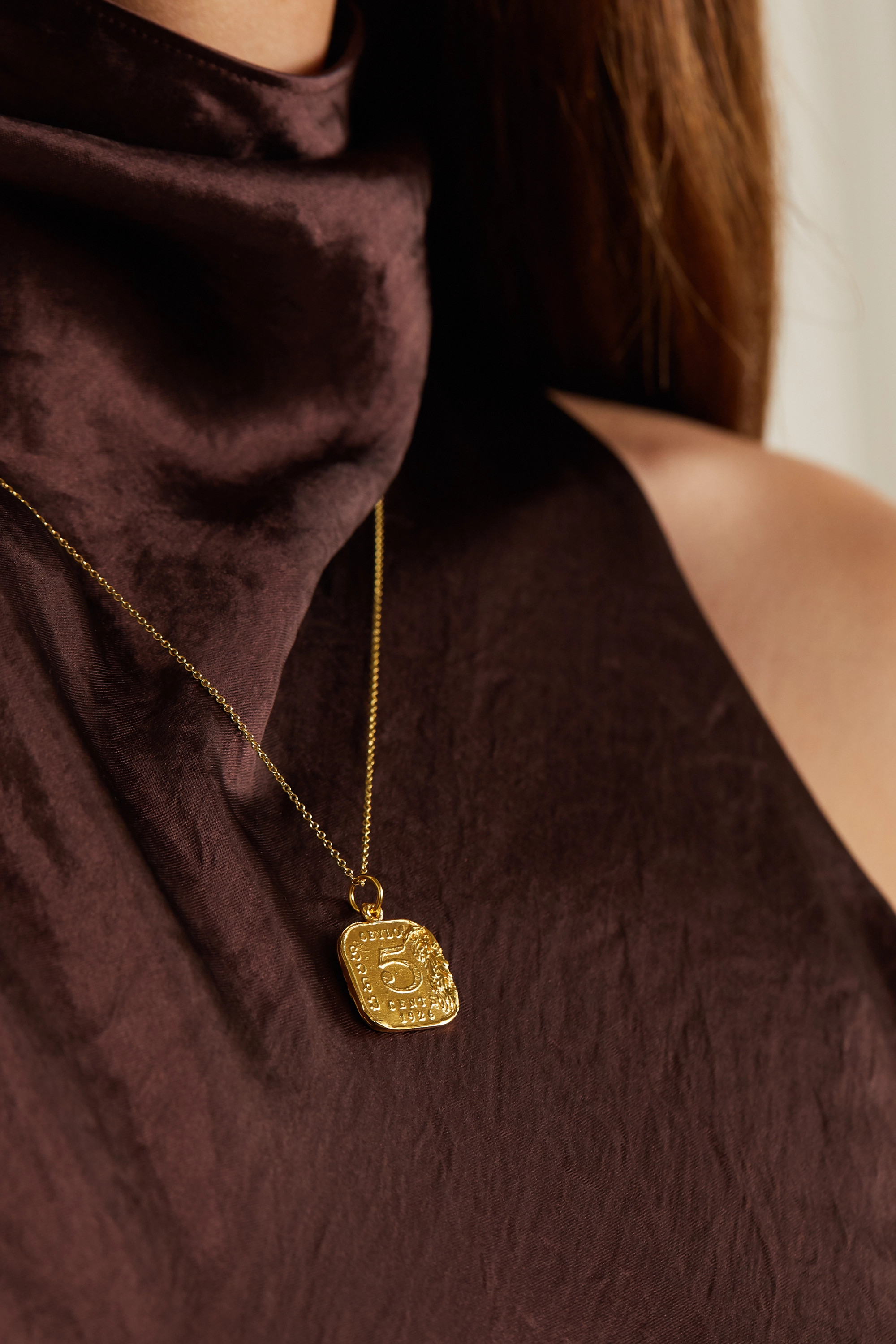 Alighieri The Infernal Storm gold-plated necklace