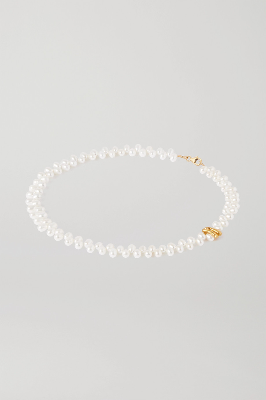 Alighieri La Calliope gold-plated pearl necklace