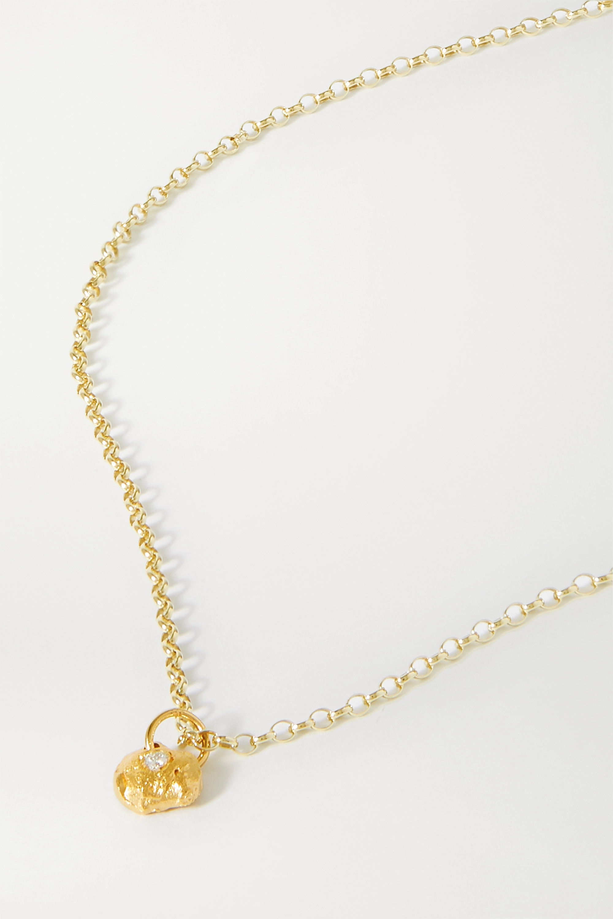 Alighieri A Flash of Lightning gold-plated diamond necklace