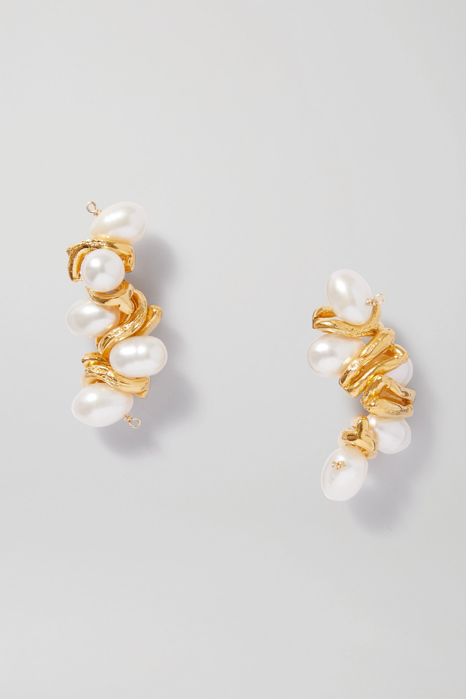 Alighieri The Calliope gold-plated pearl earrings