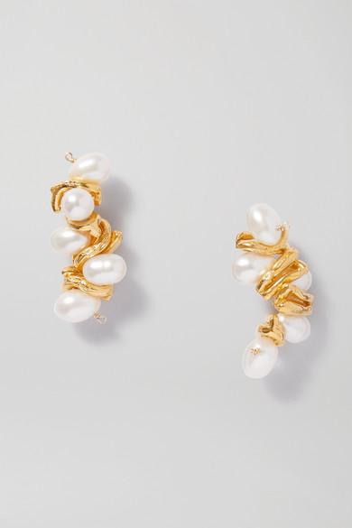 Alighieri Earrings THE CALLIOPE GOLD-PLATED PEARL EARRINGS