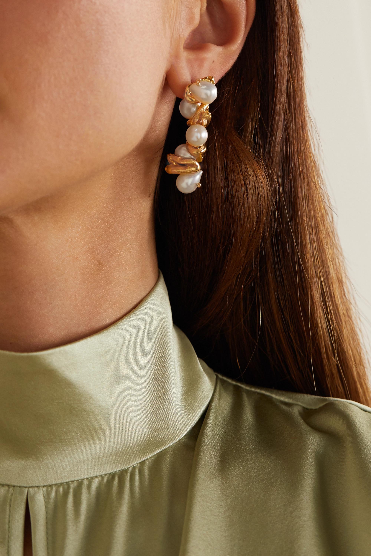 Alighieri The Calliope gold-plated pearl earrings