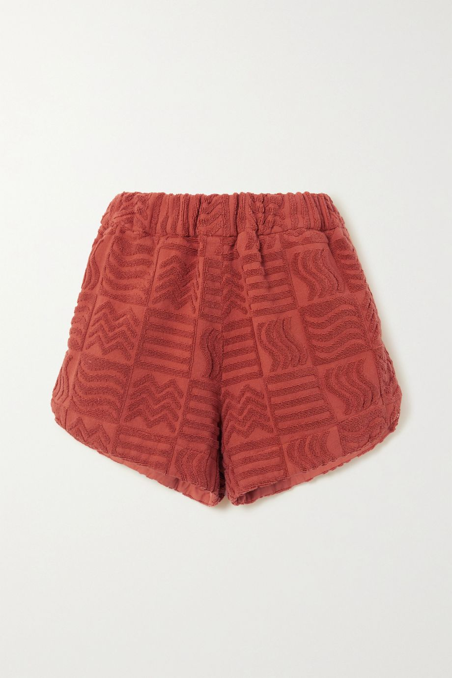 Lucy Folk Cabana cotton-terry shorts