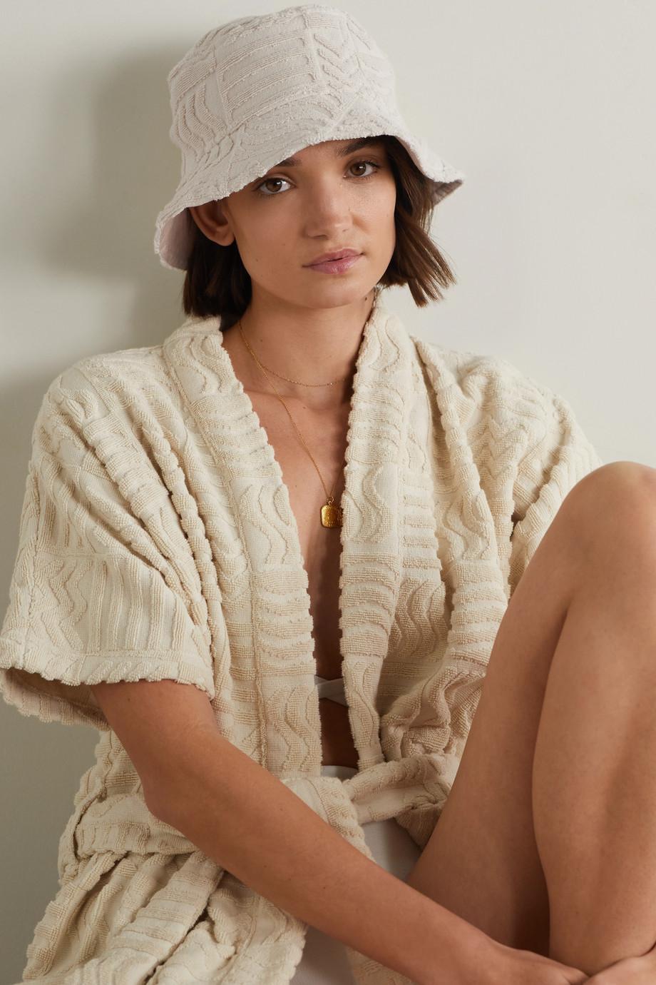 Lucy Folk Oasis cotton-terry bucket hat