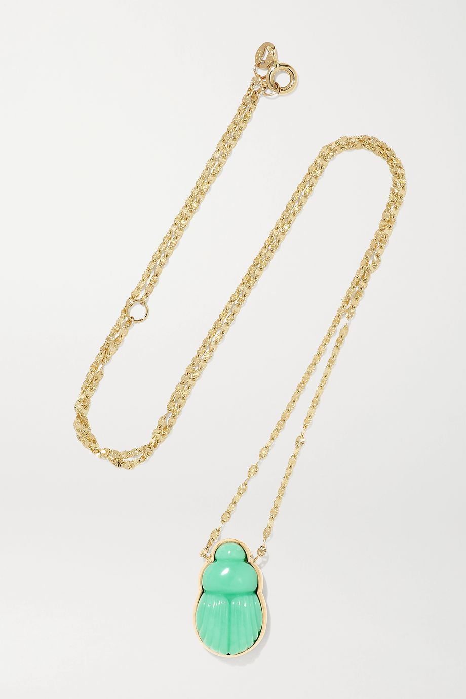 Lito Daria 14-karat gold chrysoprase necklace