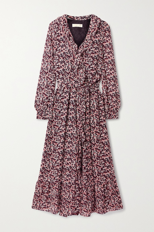 MICHAEL Michael Kors Ruffled floral-print georgette midi wrap dress