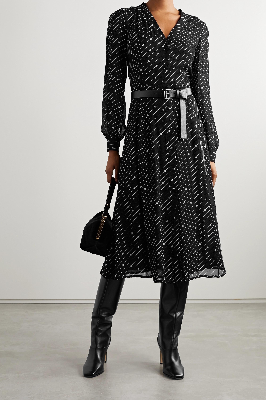 MICHAEL Michael Kors Kate belted printed crepe midi dress