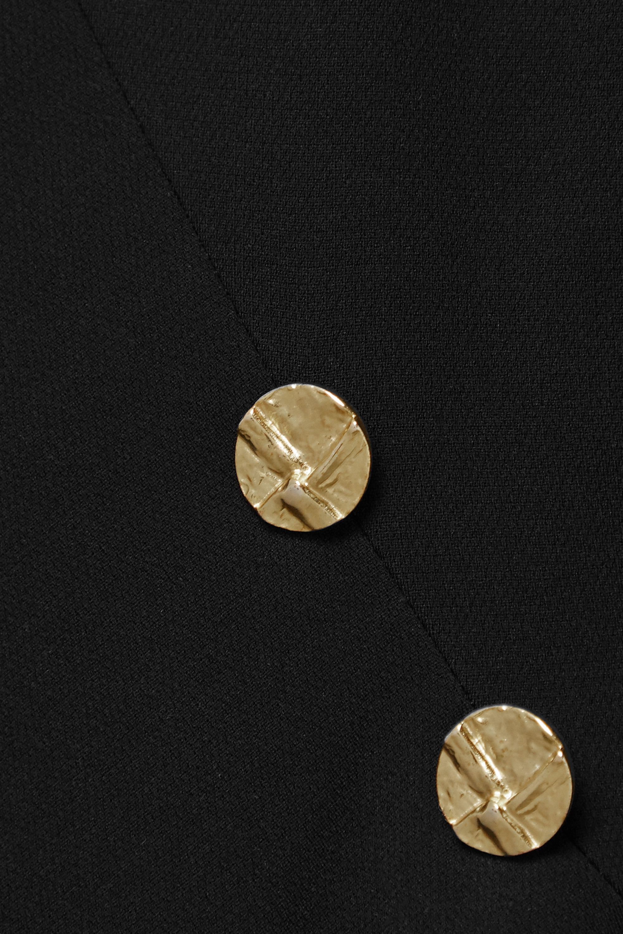 Proenza Schouler Asymmetric draped button-embellished crepe midi dress
