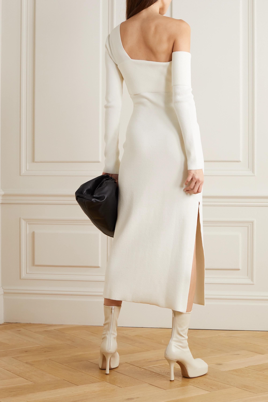 Proenza Schouler One-shoulder cutout knitted maxi dress