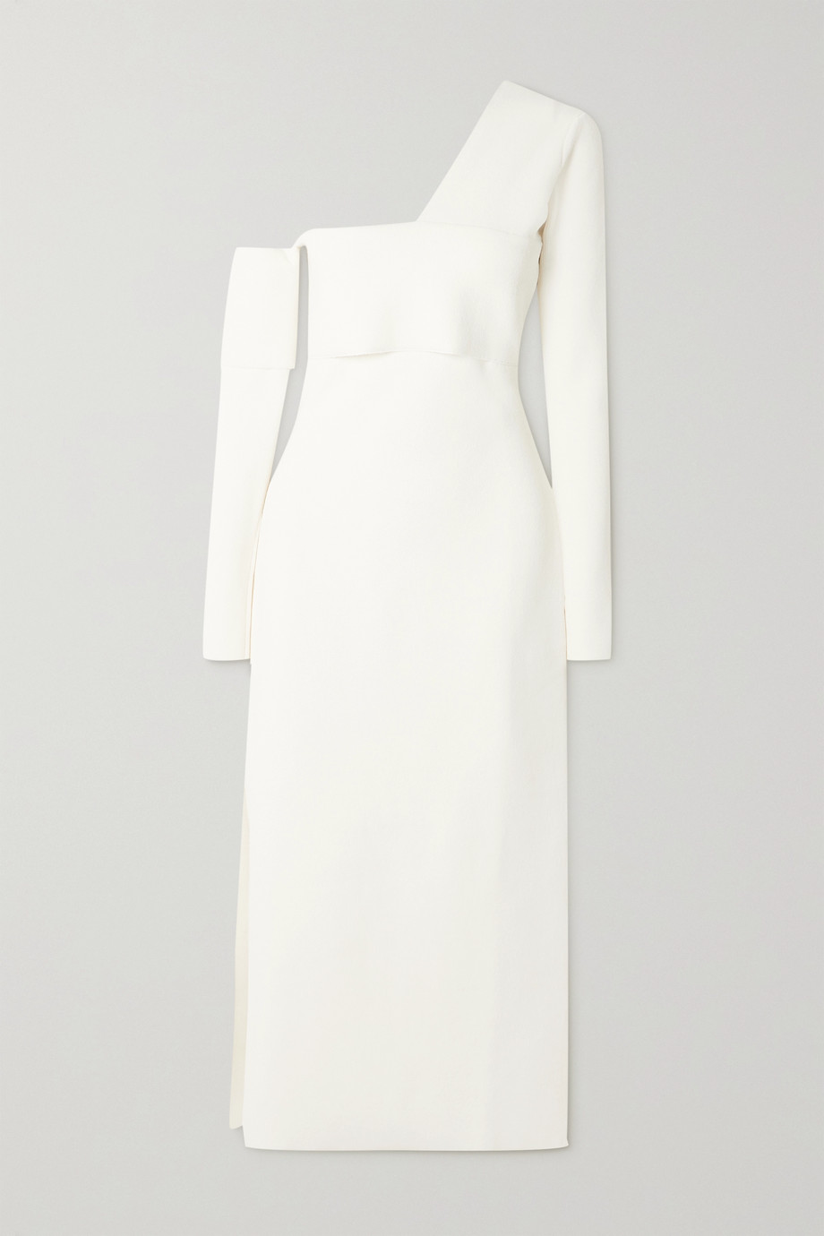 Proenza Schouler One-shoulder cutout knitted maxi dress