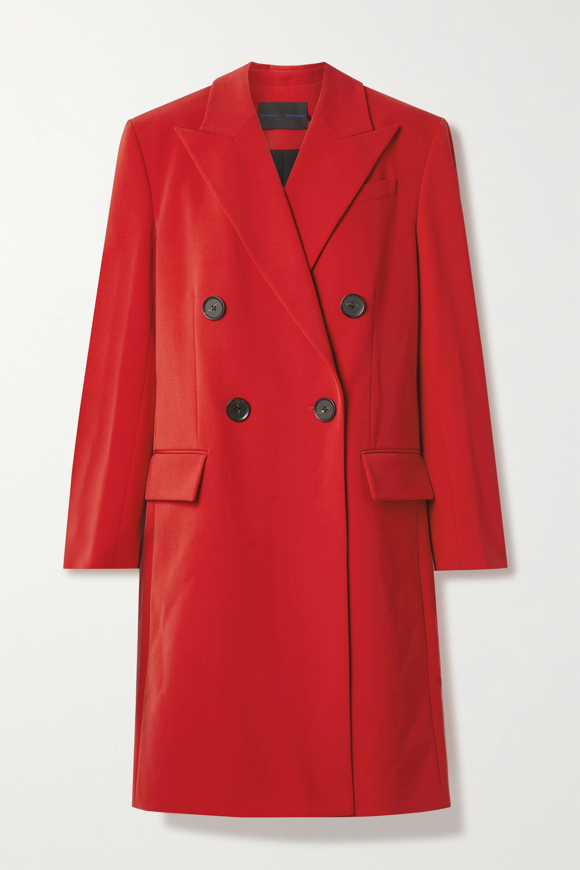 Proenza Schouler Double-breasted grain de poudre coat