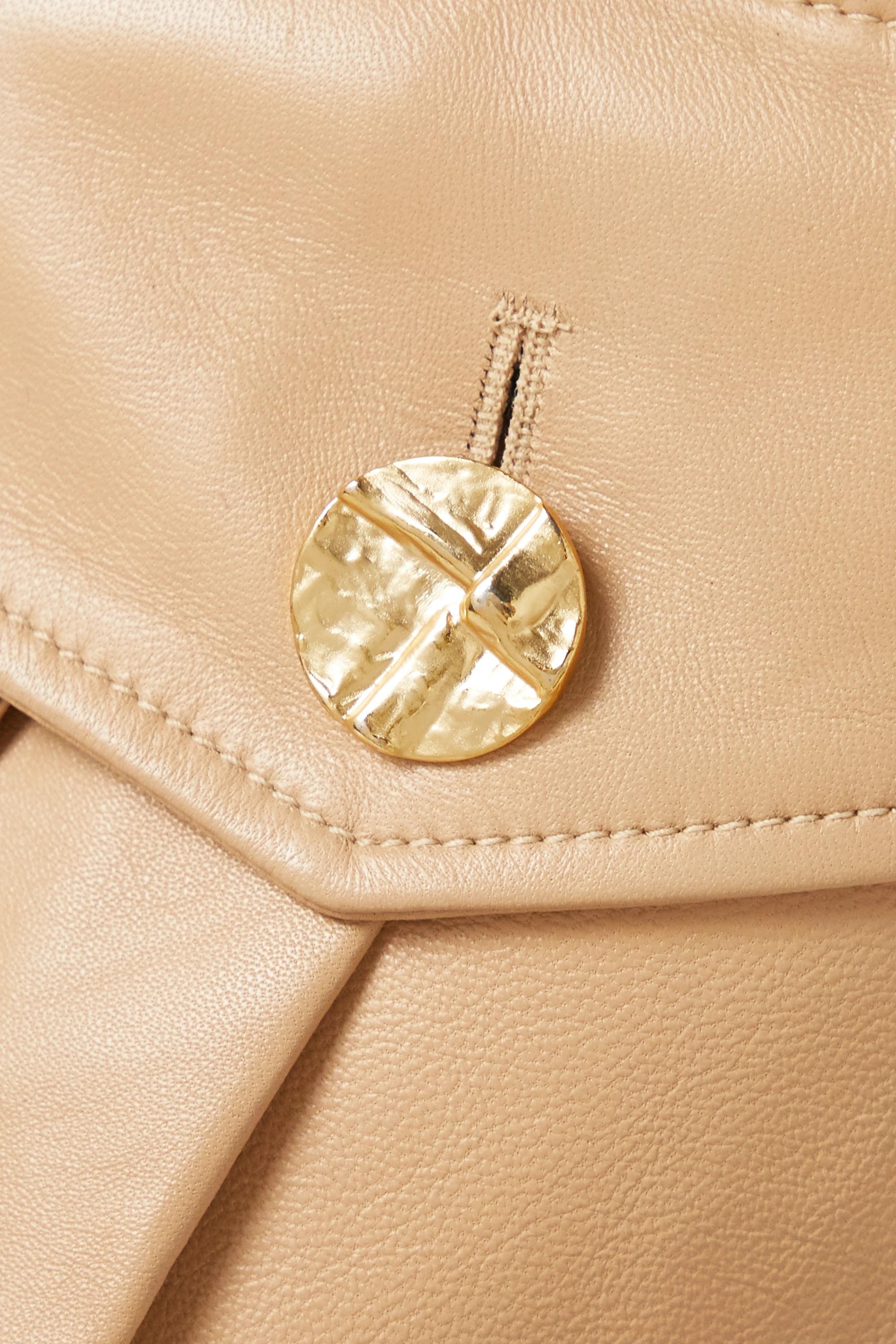 Proenza Schouler One-shoulder button-embellished leather dress