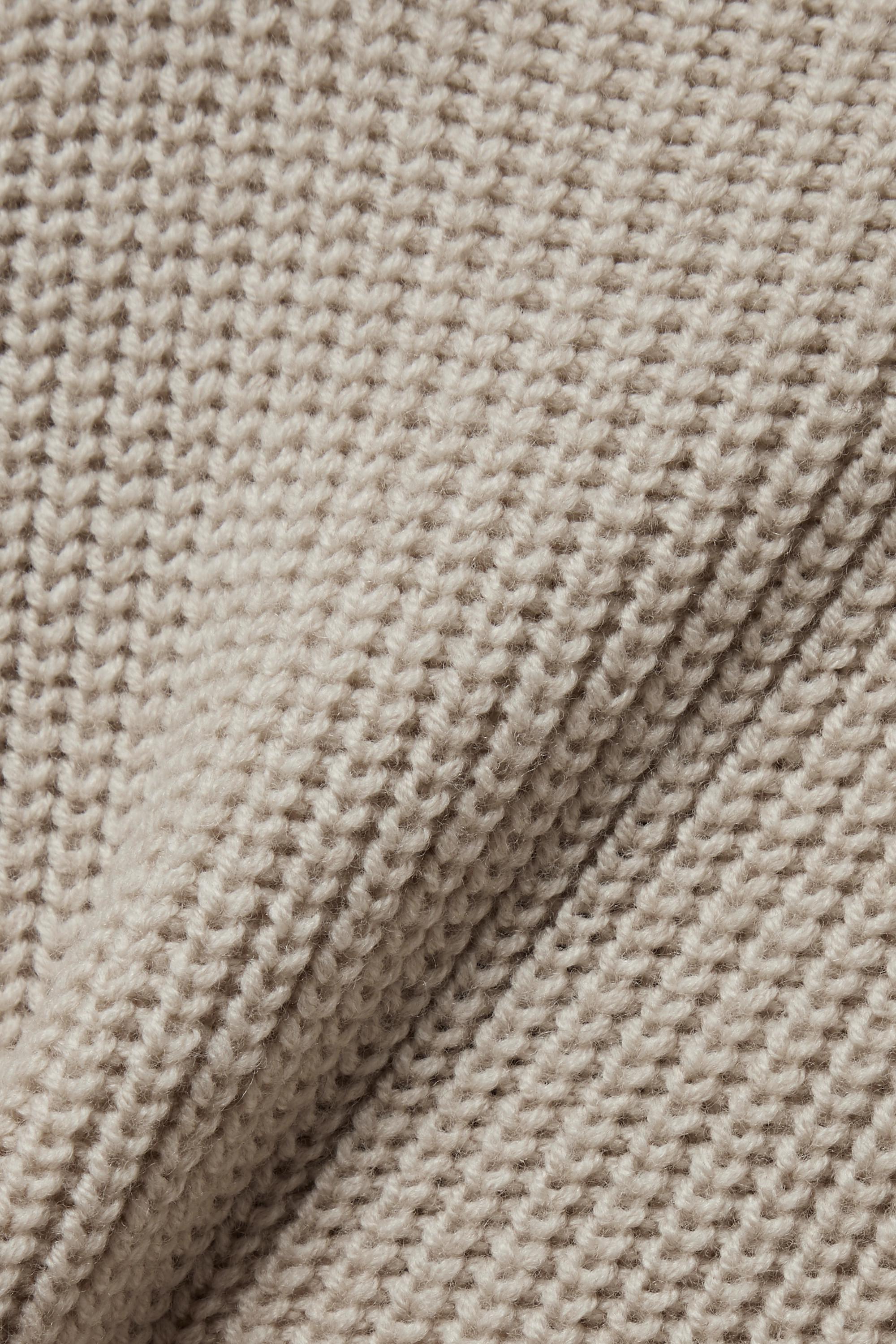 Proenza Schouler Asymmetric ribbed merino wool turtleneck sweater