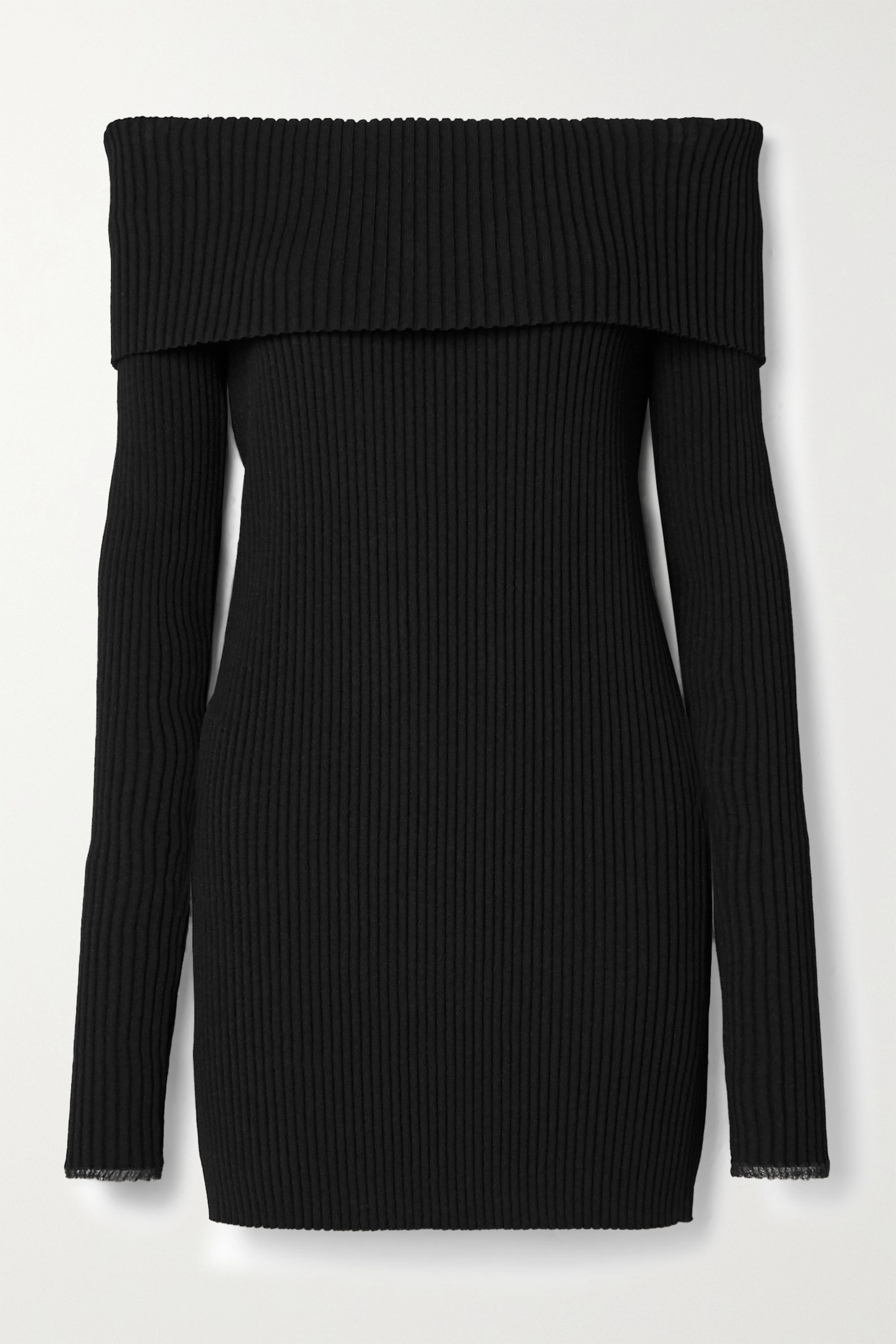 Proenza Schouler Off-the-shoulder ribbed-knit sweater