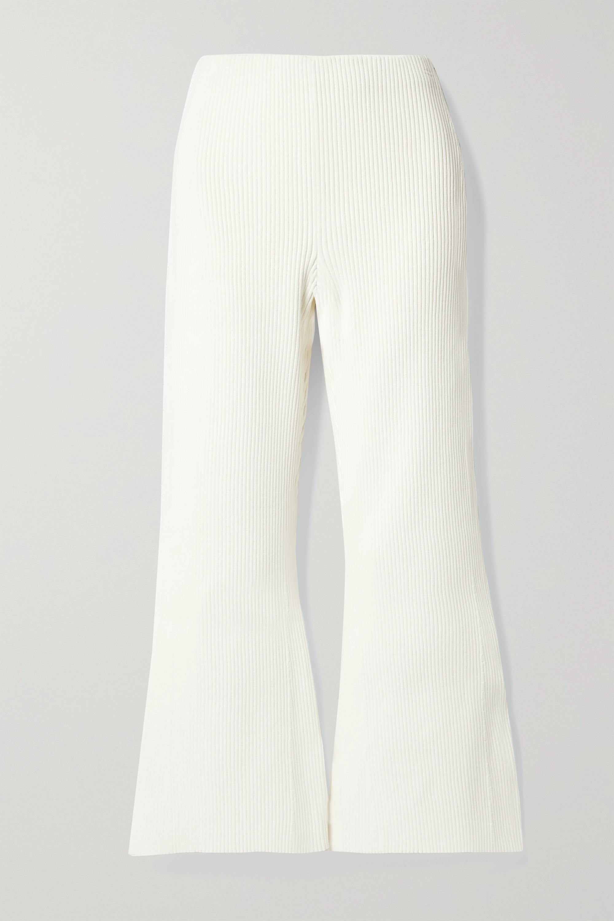 Proenza Schouler Cropped ribbed-knit flared pants