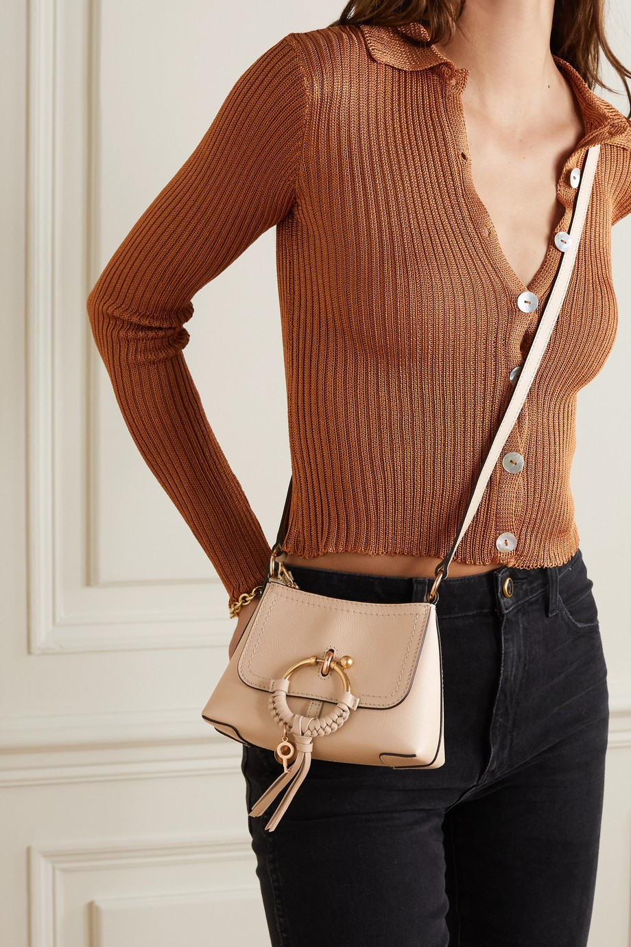See By Chloé Joan mini textured-leather shoulder bag