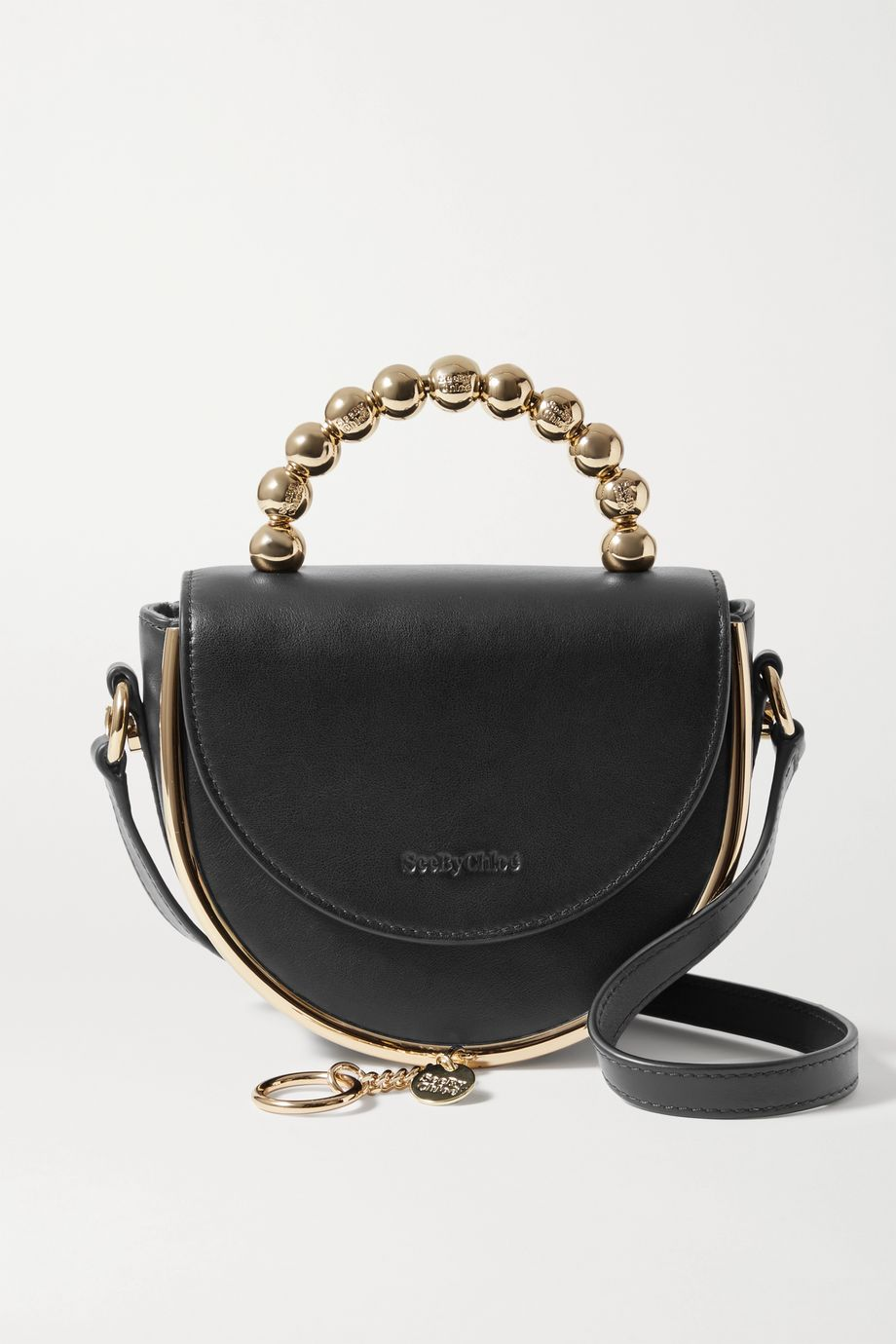 See By Chloé Mara Evening embellished leather shoulder bag