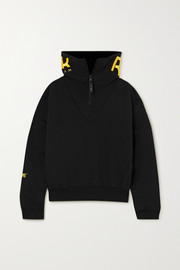 Reebok X Victoria Beckham Embroidered cotton-jersey sweatshirt