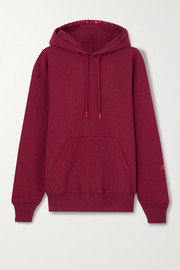 Reebok X Victoria Beckham Oversized embroidered cotton-jersey hoodie
