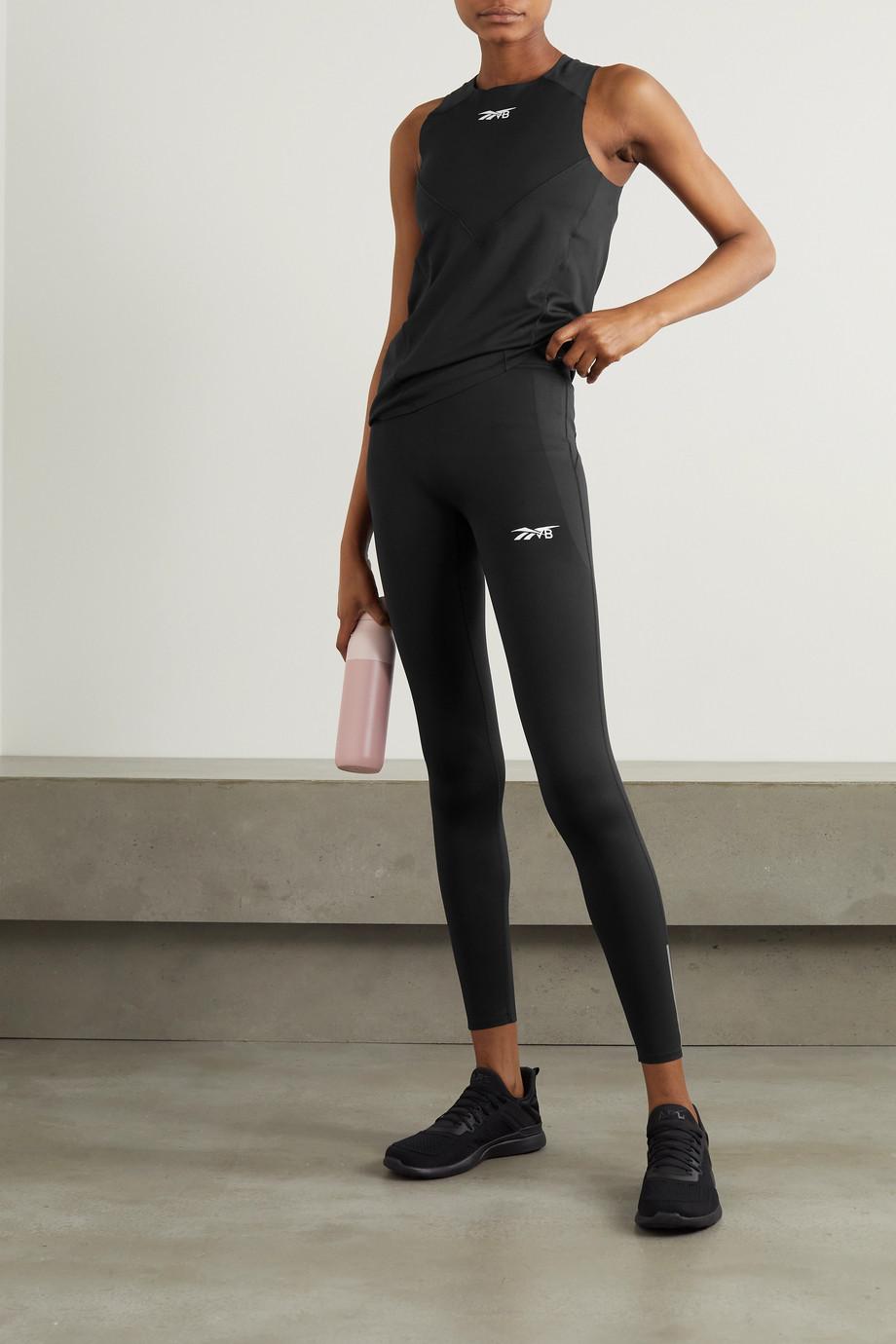Reebok X Victoria Beckham Stretch-Leggings mit Print